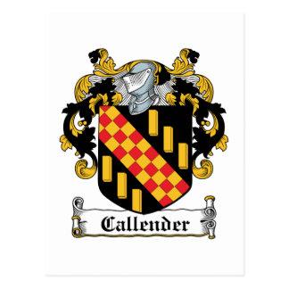 Escudo de la familia de Callender Postales