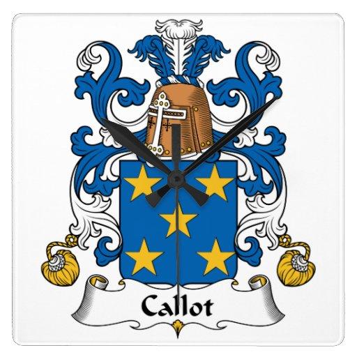 Escudo de la familia de Callot Relojes