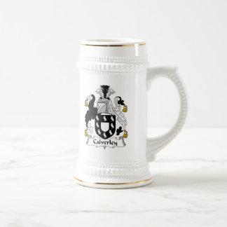 Escudo de la familia de Calverley Jarra De Cerveza