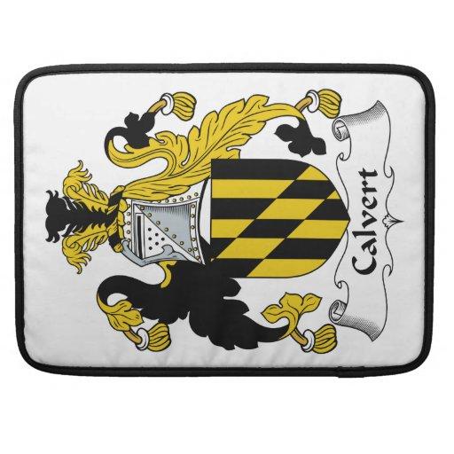 Escudo de la familia de Calvert Fundas Para Macbooks