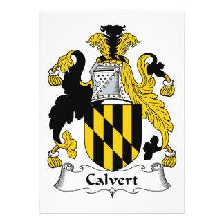 Escudo de la familia de Calvert Comunicados Personales