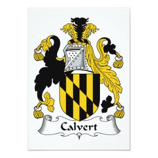 """Escudo de la familia de Calvert Invitación 5"""" X 7"""""""