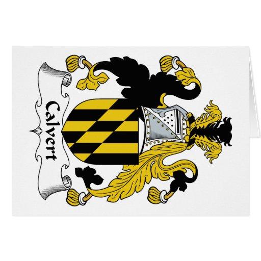 Escudo de la familia de Calvert Tarjeta De Felicitación
