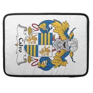 Escudo de la familia de Calvo Fundas Para Macbooks