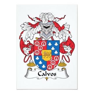 Escudo de la familia de Calvos Invitación Personalizada