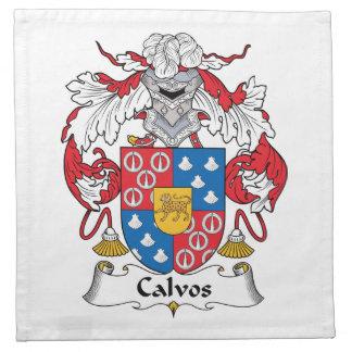 Escudo de la familia de Calvos Servilletas Imprimidas