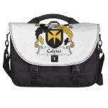 Escudo de la familia de Calzier Bolsas Para Ordenador