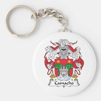 Escudo de la familia de Camacho Llavero Redondo Tipo Pin