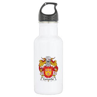 Escudo de la familia de Camanho Botella De Agua De Acero Inoxidable