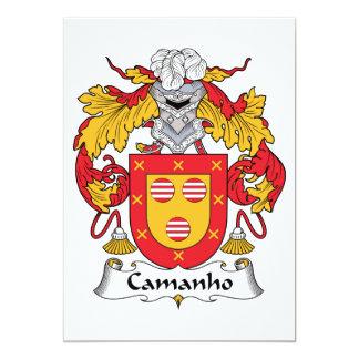 """Escudo de la familia de Camanho Invitación 5"""" X 7"""""""