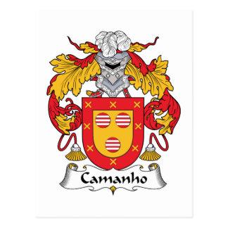 Escudo de la familia de Camanho Tarjetas Postales