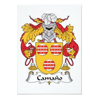 Escudo de la familia de Camano Invitación 12,7 X 17,8 Cm