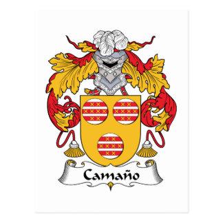Escudo de la familia de Camano Postal