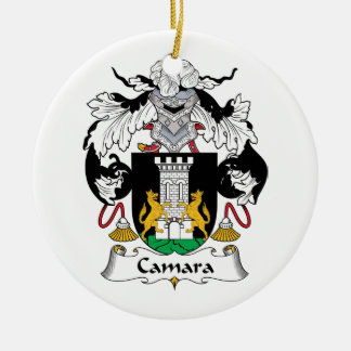 Escudo de la familia de Camara Adorno Navideño Redondo De Cerámica