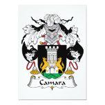 Escudo de la familia de Camara Invitación 12,7 X 17,8 Cm