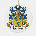 Escudo de la familia de Cambray Ornamento Para Arbol De Navidad