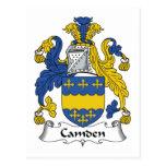 Escudo de la familia de Camden Tarjetas Postales
