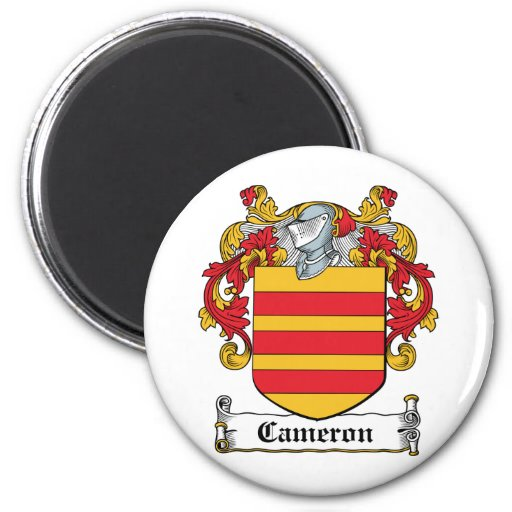 Escudo de la familia de Cameron Imán Redondo 5 Cm