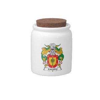 Escudo de la familia de Camino Platos Para Caramelos