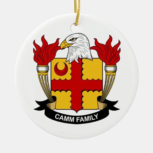 Escudo de la familia de Camm Adorno Navideño Redondo De Cerámica