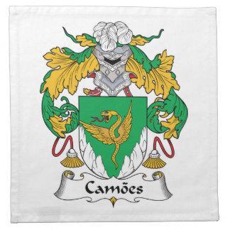 Escudo de la familia de Camoes Servilletas Imprimidas