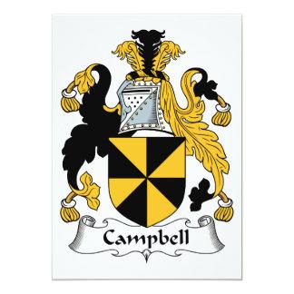 """Escudo de la familia de Campbell Invitación 5"""" X 7"""""""