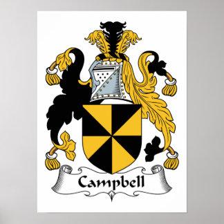 Escudo de la familia de Campbell Póster