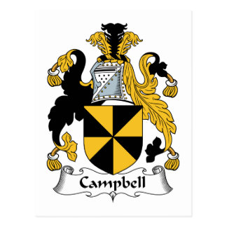 Escudo de la familia de Campbell Tarjeta Postal