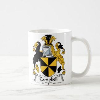 Escudo de la familia de Campbell Taza De Café