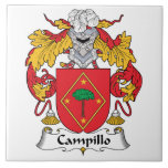 Escudo de la familia de Campillo Teja Cerámica