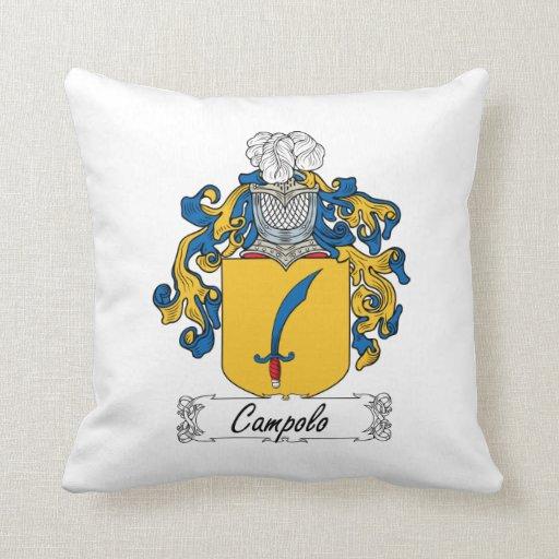 Escudo de la familia de Campolo Almohadas