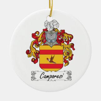 Escudo de la familia de Camporesi Adorno Redondo De Cerámica