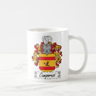 Escudo de la familia de Camporesi Tazas De Café
