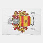 Escudo de la familia de Camporesi Toalla De Cocina