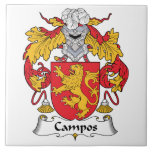 Escudo de la familia de Campos Azulejos Ceramicos