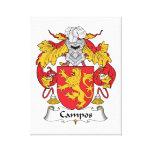 Escudo de la familia de Campos Impresión De Lienzo