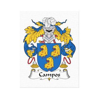 Escudo de la familia de Campos Impresión En Lienzo