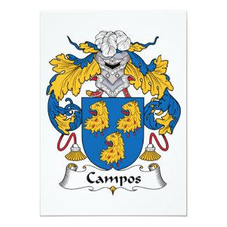 Escudo de la familia de Campos Invitacion Personalizada