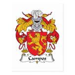 Escudo de la familia de Campos Postales