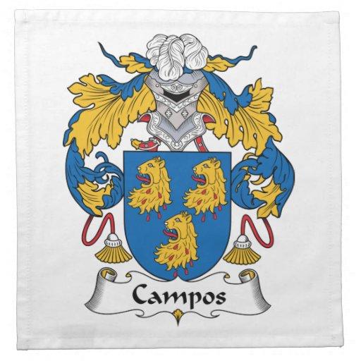 Escudo de la familia de Campos Servilleta