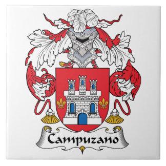 Escudo de la familia de Campuzano Azulejo Cuadrado Grande