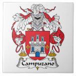 Escudo de la familia de Campuzano Tejas