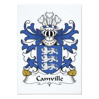 Escudo de la familia de Camville Invitación 12,7 X 17,8 Cm