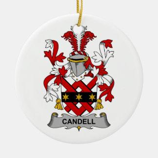 Escudo de la familia de Candell Adorno Navideño Redondo De Cerámica