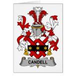 Escudo de la familia de Candell Felicitación