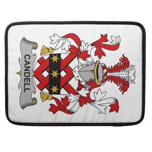 Escudo de la familia de Candell Fundas Para Macbooks