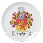 Escudo de la familia de Candiani Plato Para Fiesta