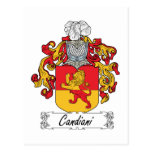 Escudo de la familia de Candiani Postal
