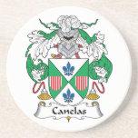 Escudo de la familia de Canelas Posavasos Cerveza