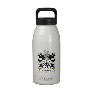 Escudo de la familia de Caneston Botella De Agua